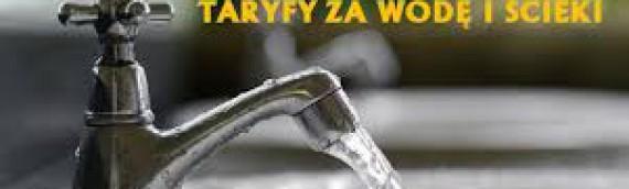Nowe taryfy opłat za wodę i ścieki….